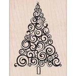 Hero Arts - Woodblock - Christmas - Wood Mounted Stamps - Large Swirl Tree