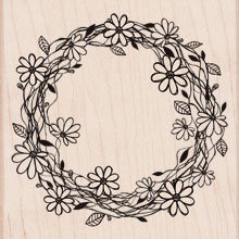 Hero Arts - Woodblock - Wood Mounted Stamps - Flower Wreath