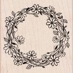 Hero Arts - Woodblock - Wood Mounted Stamps - Flower Wreath