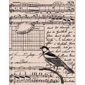 Hero Arts - Woodblock - Wood Mounted Stamps - Musical Collage