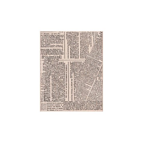 Hero Arts - Woodblock - Wood Mounted Stamps - Large Newspaper Background