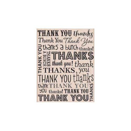 Hero Arts - Woodblock - Wood Mounted Stamps - So Many Thanks