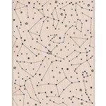 Hero Arts - Wood Block - Wood Mounted Stamp - Constellation Background