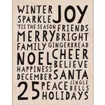 Hero Arts - Woodblock - Christmas - Wood Mounted Stamps - Winter Sparkle Background