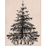 Hero Arts - Christmas - Woodblock - Wood Mounted Stamps - Tree with Presents