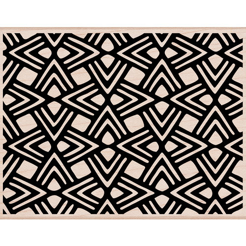 Hero Arts - Woodblock - Wood Mounted Stamps - Triangle Pattern Background