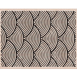 Hero Arts - Woodblock - Wood Mounted Stamps - Wave Pattern Background