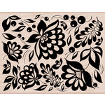 Hero Arts - Woodblock - Wood Mounted Stamps - Large Floral Background