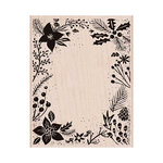 Hero Arts - Woodblock - Wood Mounted Stamps - Holiday Floral Background