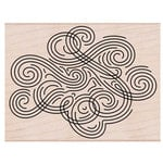Hero Arts - Woodblock - Wood Mounted Stamps - Large Swirl Background