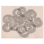 Hero Arts - Woodblock - Wood Mounted Stamps - Large Swirl Background