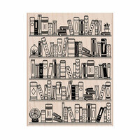 Hero Arts - Woodblock - Wood Mounted Stamps - Bookcase