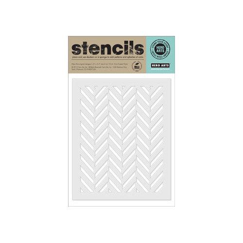 Hero Arts - Stencils - Tweed Pattern