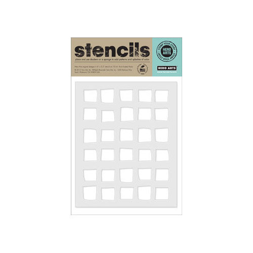 Hero Arts - Stencils - Irregular Checkerboard Background