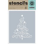 Hero Arts - Christmas - Stencils - Swirl Tree