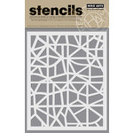 Hero Arts - Trend Collection - Stencils - Map Grid