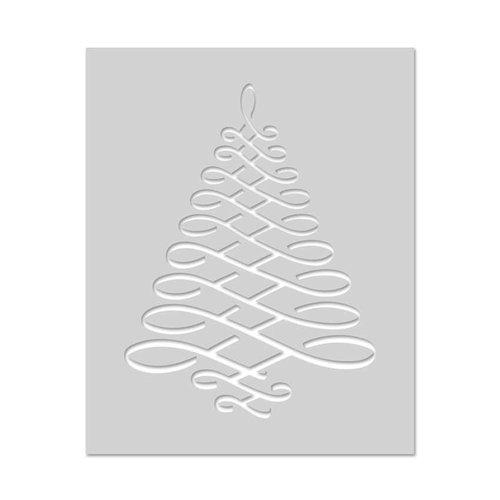 Hero Arts - Christmas - Stencils - Calligraphic Tree