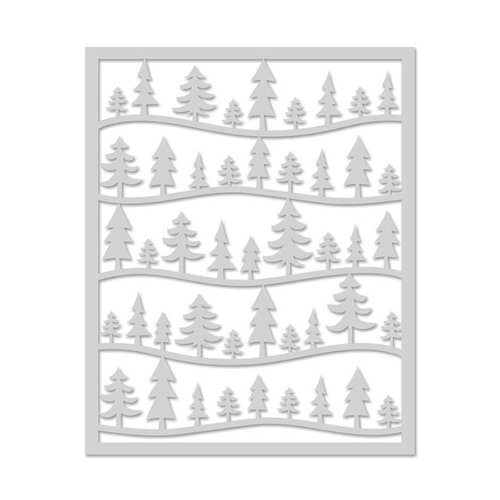 Hero Arts - Christmas - Stencils - Forest Scene