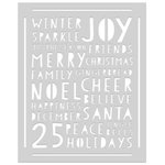 Hero Arts - Christmas - Stencils - Holiday Words