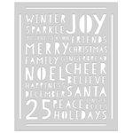 Hero Arts - Christmas - Stencils - Holiday Words