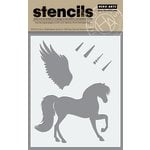 Hero Arts - Stencils - Winged Pegasus