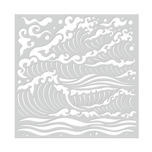 Hero Arts - Stencils - Mermaid Sea Waves