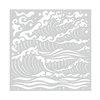 Hero Arts Mermaid Sea Waves Stencil