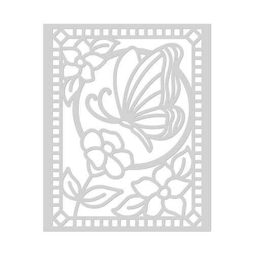 Hero Arts - Stencils - 6 x 6 - Butterfly Stained Glass