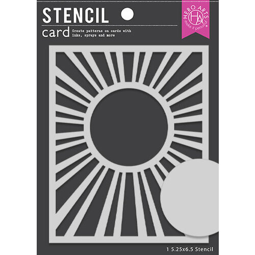 Hero Arts - Stencils - Sun Background