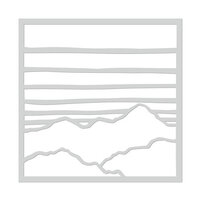 Hero Arts - Stencils - Gradient Sky and Mountains