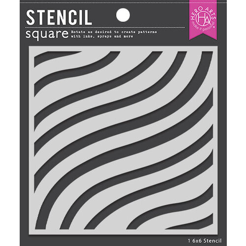 Hero Arts - Stencils - Flowy Stripes