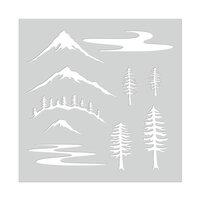 Hero Arts - Stencils - Mountain Scene