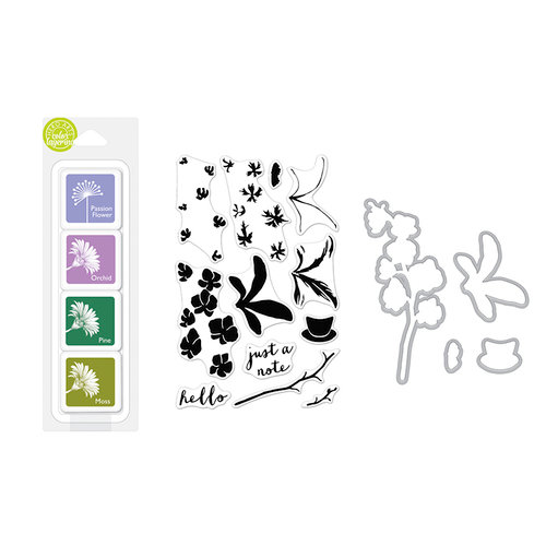 Hero Arts - Coloring Layering Bundle - Orchid In A Pot
