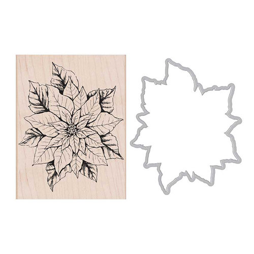 Hero Arts - Die and Wood Mounted Stamp Set - Poinsettia