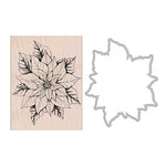 Hero Arts - Die and Clear Acrylic Stamp Set - Poinsettia