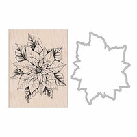 Hero Arts - Die and Clear Photopolymer Stamp Set - Poinsettia