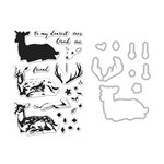 Hero Arts - Die and Clear Acrylic Stamp Set - Deer