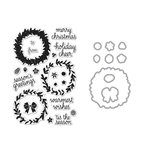Hero Arts - Die and Clear Acrylic Stamp Set - Wreath