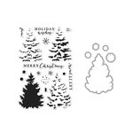 Hero Arts - Die and Clear Acrylic Stamp Set - Christmas Tree