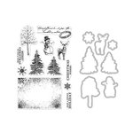 Hero Arts - Die and Clear Photopolymer Stamp Set - Vintage Wishes
