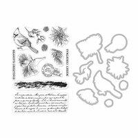 Hero Arts - Christmas - Die and Clear Photopolymer Stamp Set - Vintage Post