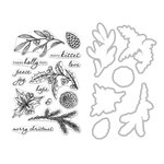 Hero Arts - Christmas - Die and Clear Photopolymer Stamp Set - Holly Days