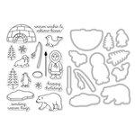 Hero Arts - Christmas - Die and Clear Acrylic Stamp Set - Warm Hugs