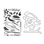 Hero Arts - Die and Clear Acrylic Stamp Set - Dimensional Bird