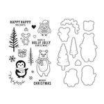 Hero Arts - Christmas - Die and Clear Acrylic Stamp Set - Holiday Animals