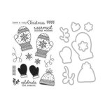 Hero Arts - Christmas - Die and Clear Acrylic Stamp Set - Holiday Mittens