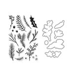 Hero Arts - Die and Clear Acrylic Stamp Set - Pine Branches