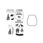 Hero Arts - Die and Clear Photopolymer Stamp Set - Winter Scene
