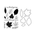 Hero Arts - Fall Collection - Die and Clear Acrylic Stamp Set - Grateful Leaves