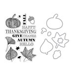 Hero Arts - Fall Collection - Die and Clear Acrylic Stamp Set - Autumn